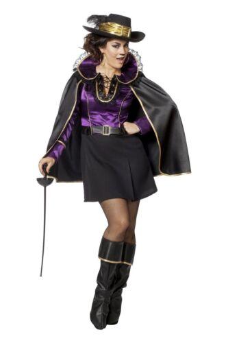 Damen Kostüm Musketier Kleid flieder Karneval Fasching FFF