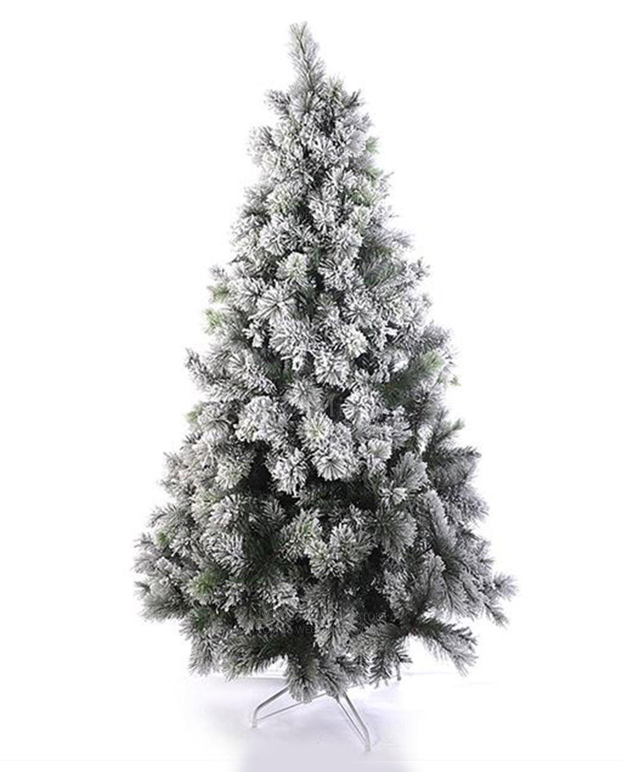 Cc Albero Di Natale Innevato Abete Artificiale 210Cm Albero Folto Base dfh