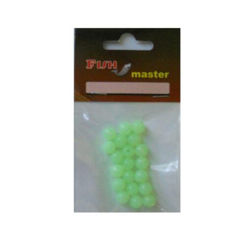 Leuchtperlen 20 Leucht-Perlen 8mm