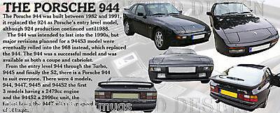 944S T S2 PORSCHE 944 CLASSIC CAR MUG.LIMITED EDITION