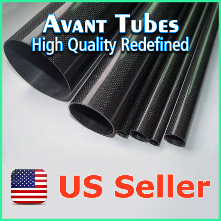 8pcs Glossy 18mm OD x 16mm ID x 500mm 3K  Roll autobon Fiber Tube Rod Quadcopter  buona qualità