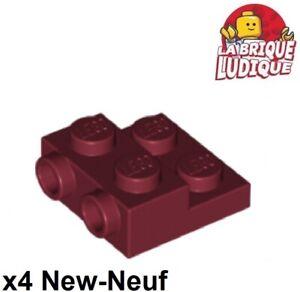 Lego 4x Plate Modified 1x2 Door Rail rouge foncé//dark red 32028 NEUF