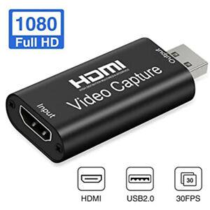 HDMI vers USB carte de capture vidéo HD 1080P enregistreur de jeux vidéo/Live Streaming Game