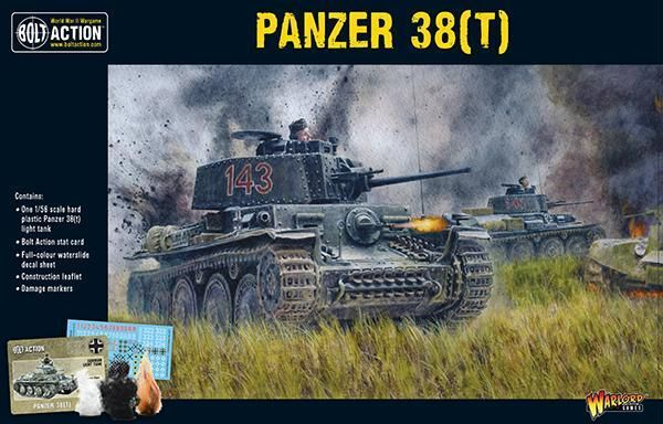 Warlord Games Tank 38 (T)28mm Germany German Ww2 Bolt Action Tank