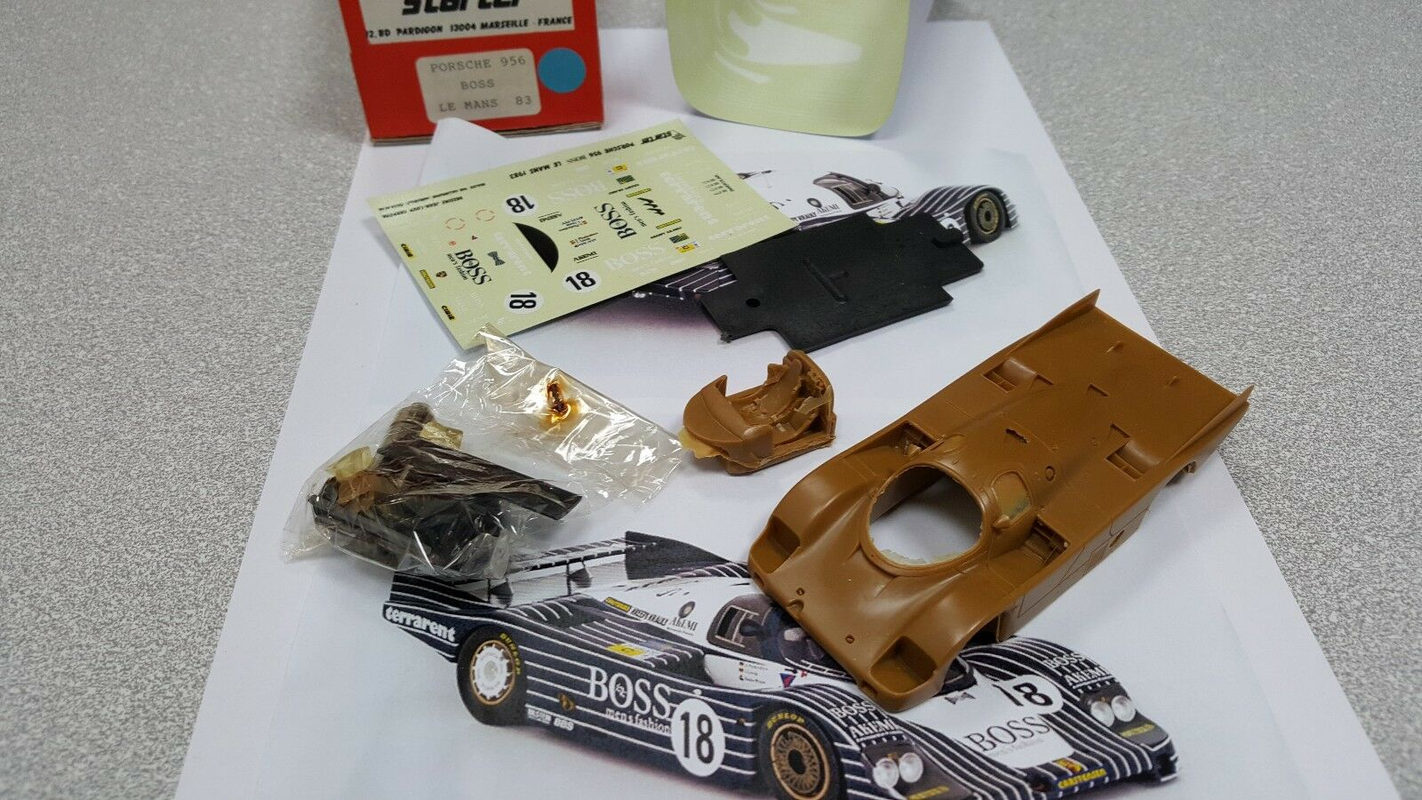 Kit Porsche 956 Boss  18 Le Mans 1983 - Starter Models kit 1 43