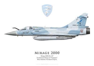 "EC 1//2 /""Cigognes/"" French Air Force par G. Marie Print Mirage IIIC"