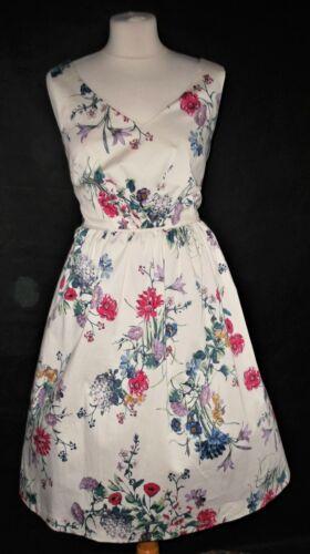 Doublure Petticoat Floral en Monsoon Années Meadow avec 1950 Print Dress 12 Rockabilly 8vapxHgq