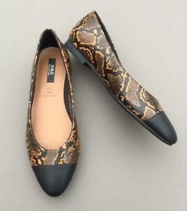 M\u0026S Ladies Leather Flat Shoes 6 Cushion