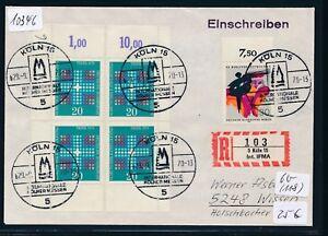 10346) Spécial R-ticket De Cologne Int. Ifma, Sst 29.9.70, Brf Avec 4 Bg-coins-afficher Le Titre D'origine Nous Prenons Les Clients Comme Nos Dieux
