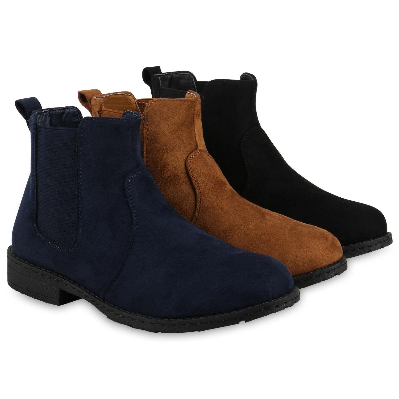 Moderne Damen Stiefeletten Chelsea Boots Stiefel 813267 Schuhe