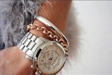 New Michael Kors MK8086 Oversized Runway Silver Tone Unisex Watch With MK box!!!