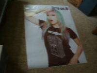 36 X 48 Store Poster Dr Who, With A Tatoo Girl, I Think To Sell The Shirt ??