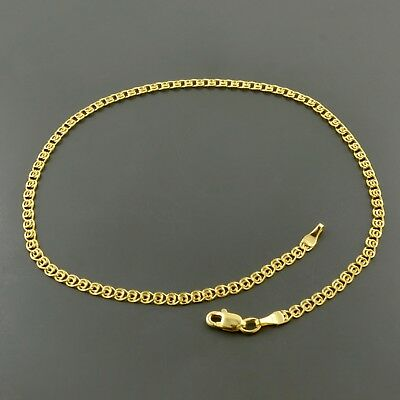 "Fine Anklets Knowledgeable 10k Yellow Gold 2.7mm Multi Link Love 10"" Anklet W/ Lobster Lock"