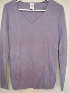 fd793ce4ab Image is loading DUO-MATERNITY-SHIRT-purple-stretchy-sweater-WINTER-euc-