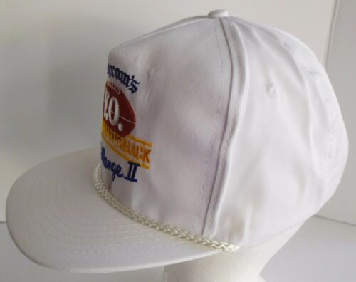 Vintage 1980s Seagrams VO Whiskey Quarterback Challenge Rope Snapback Hat Cap