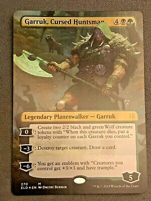 MTG Borderless x1 NM Cursed Huntsman Throne of Eldraine Garruk