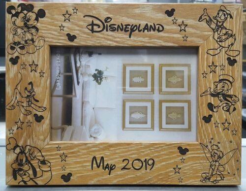 "Disney Engraved Photo Frame 6x4/"" Landscape Medium Oak effect Personalised"