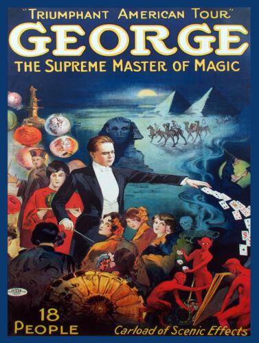 7961.Decoration Poster.Home room design decor.George Master of Magic.Magician