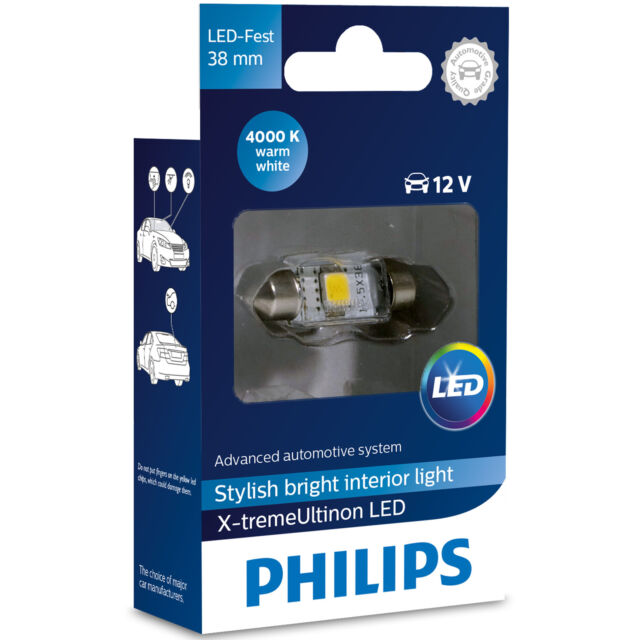 Philips X-tremeUltinon LED Tipo Fusible C5W 4000K 38mm (Bombilla Individual)