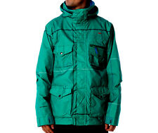 Foursquare Fabian Jacket Mens Snowboard Ski Waterproof Coat Green M