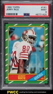 1986 Topps Football Jerry Rice ROOKIE RC #161 PSA 9 MINT
