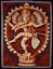 SHIVA-NATARAJ-hinduism-Stoffbild-Wandbehang-baumwolle-Batik-GOA-Indien-75-x-105 Indexbild 1