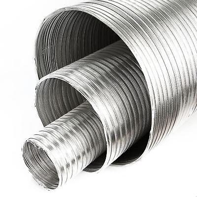 Heat Resistant Hose >> 2 5m Aluminium Flexi Pipe Alloy Air Duct Tube Heat Resistant Hose O