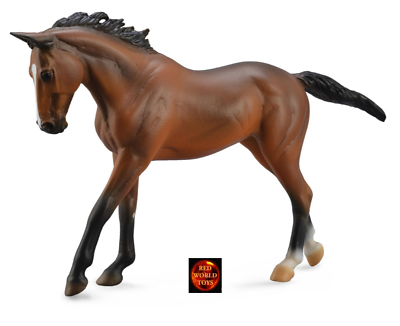 Toy Horse Model by CollectA 88477 THOROUGHBRED BAY MARE New with tag