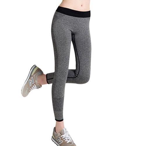 Damen Sport Leggings Yoga Fitness Laufhose Tights Stretch Jogginghose Leggins