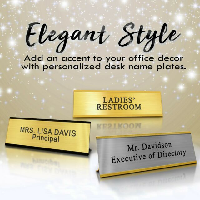 Personalized Business Desk Name Plate