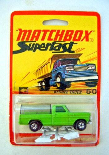 MATCHBOX SUPERFAST 50 a petits animaux camion citron vert rare étui.