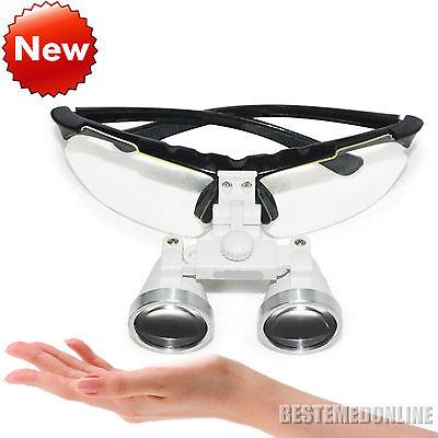 BLACK Dental Surgical Medical Binocular Loupes 3.5X 420mm Optical Glass Loupe