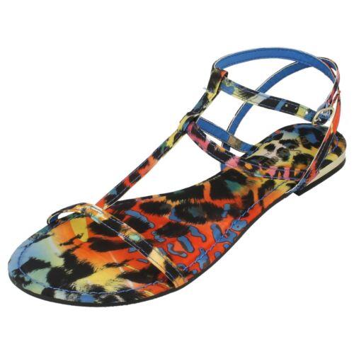 Ladies Savannah Textile Flat Strappy Sandals