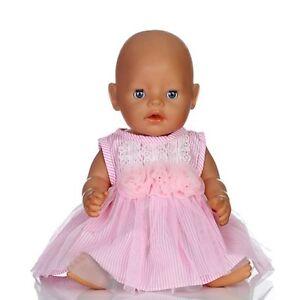 Puppenkleidung NEU 43 cm Baby Born Jogging Anzug zb pink/hellblau