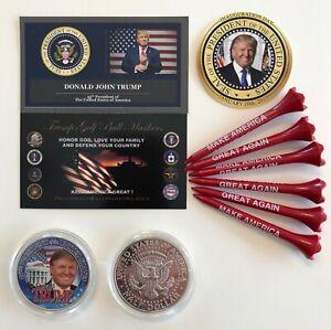 Trump-Golf-Ball-Marker-amp-Tees-45th-President-USA-MAGA-1-Decal