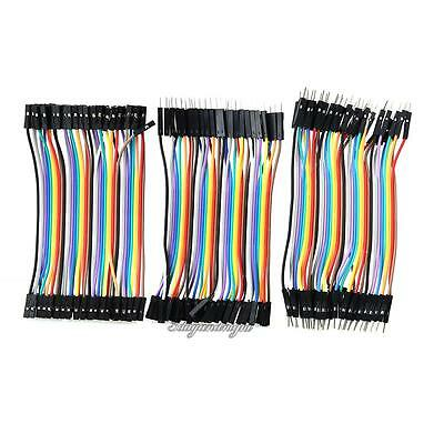 120Pcs Good Male to Female Dupont Wire Jumper Cable for Arduino Breadboard New