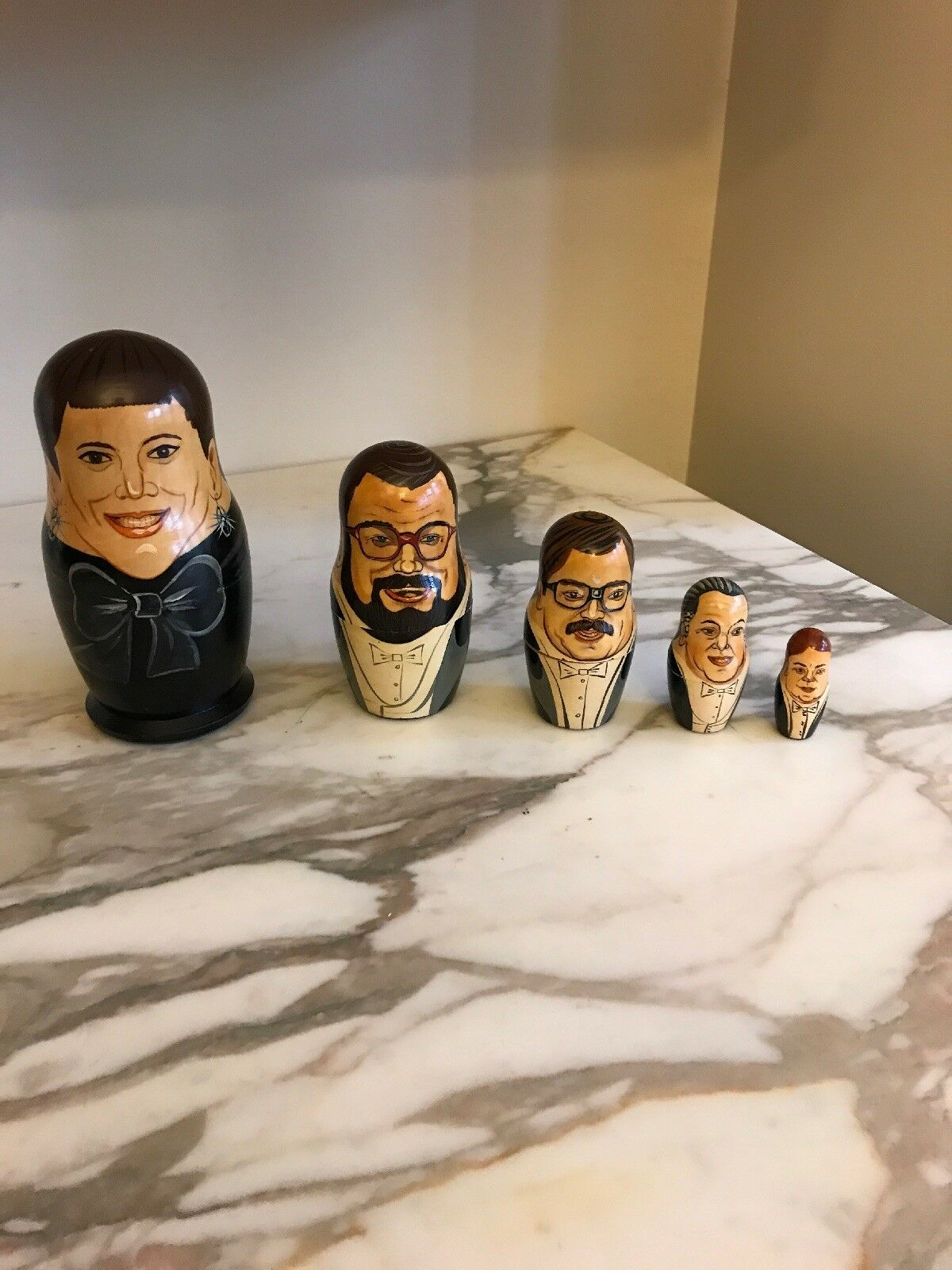 Indianapolis Symphony Orchestra Russian 5 piece Nesting Dolls Hand Painted 1993