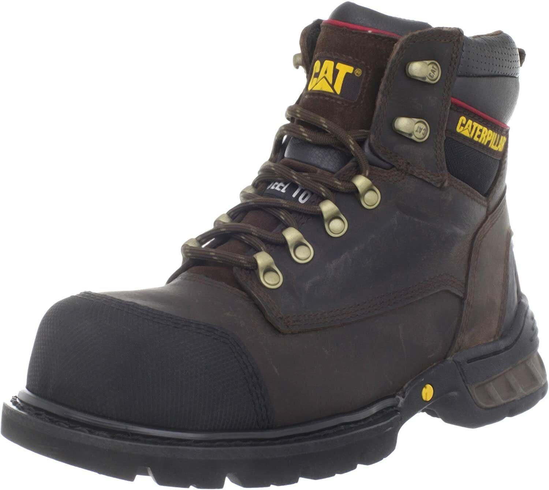 Caterpillar Mens SPARTAN ST Steel Toe EH Work Industrial Safety Dark Brown Boots
