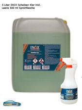 5L INOX Scheiben Klar Reiniger hochwirksam & leere 500 ml Sprayflasche