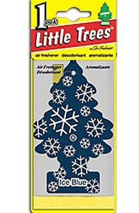 Little Trees Hanging Car & Home Air Freshener Ice Blue 24 Packs