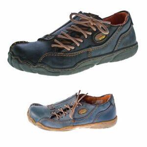 Comfort-da-donna-Scarpe-in-pelle-TMA-1905-NERO-ROSSO-BLU-VERDE-LOOK-VISSUTO-Scarpe-Basse