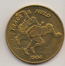 1984 Los Angeles Olympics SCRTD transit token - Track and Field - CA450AQ