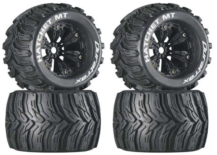 Duratrax DTXC3588 Mounted Hatchet 3.8 Tire   Wheel (4) Traxxas E-Revo Summit
