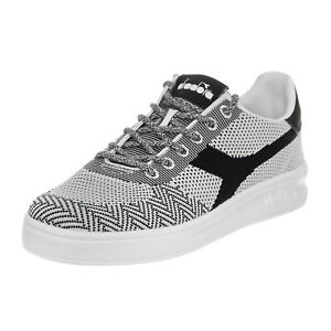 4928680488 Image is loading Diadora-Sneakers-B-Elite-Weave-White-Black-White