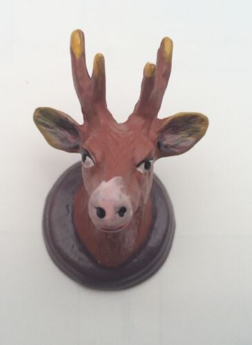 Deer Head Hunting Hunters Trophy 1.12 Scale Dolls House Miniature Stag/'s Head