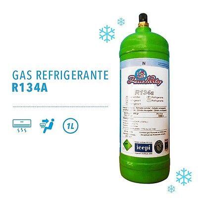 KIT RICARICA BOMBOLA 1 LITRO GAS R134A CLIMATIZZATORE AUTOMOBILE CONDIZIONATORE