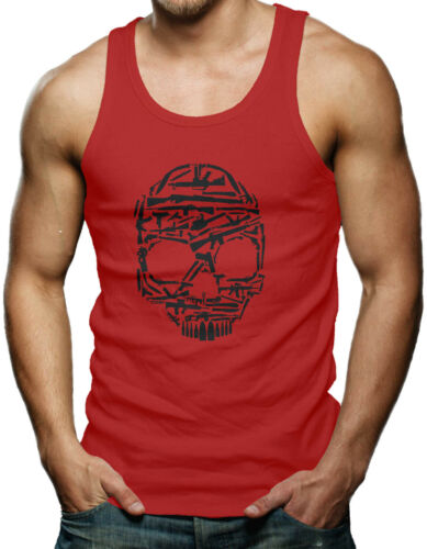 Skull Made Of Guns 2nd Amendment USA Men/'s Tank Top T-shirt