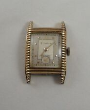 Vintage Men's 1951 Bulova 10K RGP Bezel Art Deco Wind-Up Wrist Watch Works