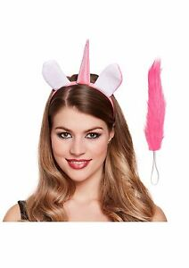 Adult   Child Unicorn Ears and Tail Set Headband Fancy Dress Costume ... 82bc946580e
