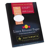 Southworth 100% Cotton Linen Resume Paper Blue 32 Lbs. 8-1/2 X 11 100/box on sale